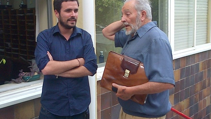 Alberto Garzón y Julio Anguita.