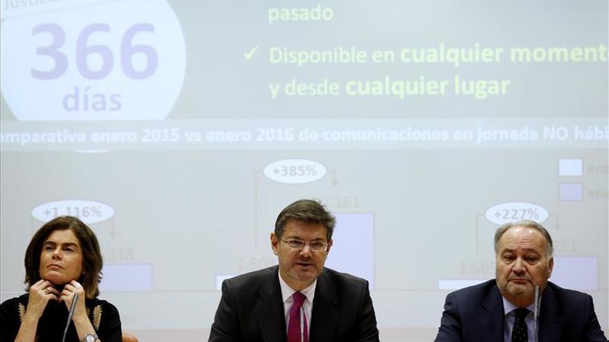 El sistema telemático judicial logra en el primer mes un ahorro de 28 millones de euros