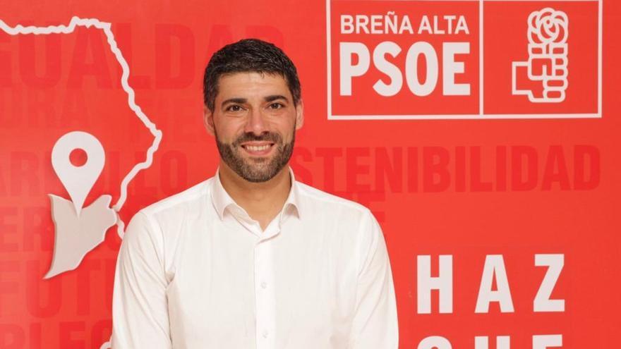 Daniel Rodríguez Camacho, portavoz de grupo Socialista en el Ayuntamiento de Breña Alta.