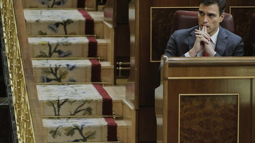 Pedro Sánchez durante la sesión en el Congreso