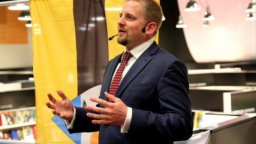 El presidente de Liberland, Vit Jedlicka