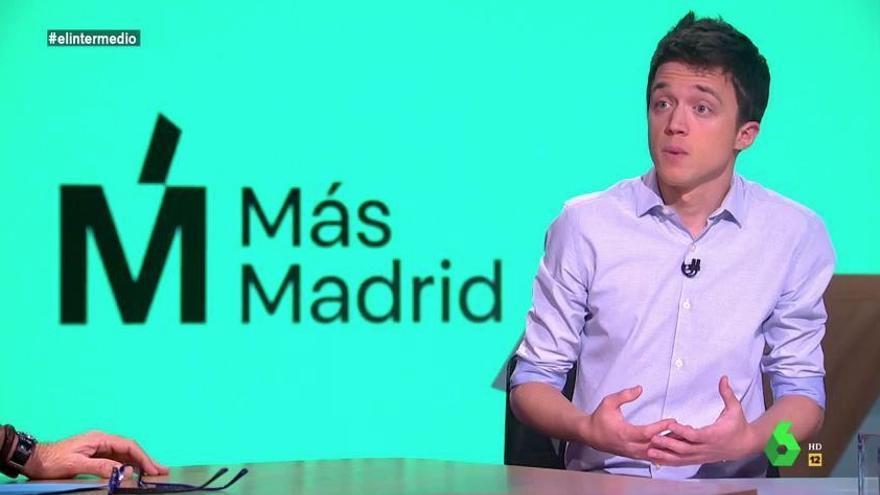 Íñigo Errejón durante una entrevista con El Intermedio de La Sexta.