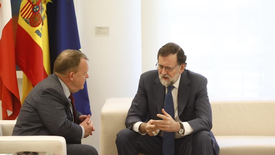 El presidente del Gobierno junto al primer ministro danés, Lars Løkke Rasmussen