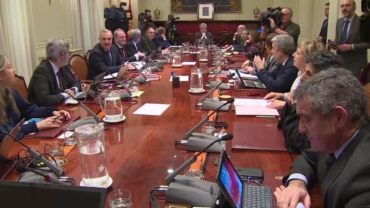 Imagen de archivo de un pleno del CGPJ.