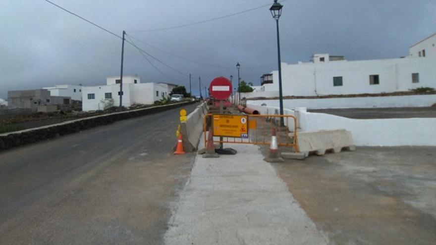 Obras en el pueblo de El Cuchillo (Tinajo).