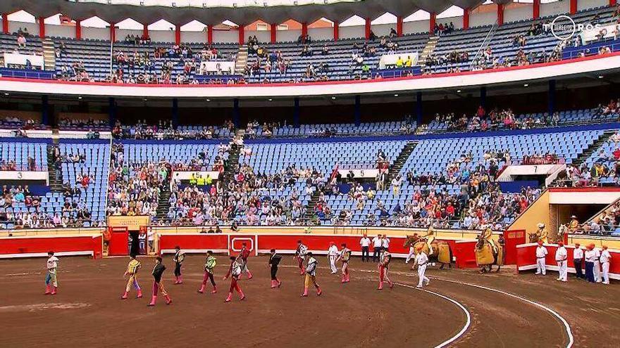 Plaza de toros de Bilbao durante las corridas de Aste Nagusia