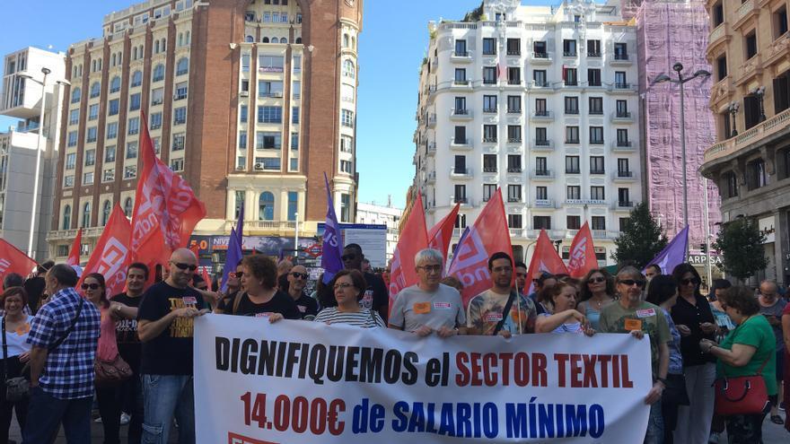 Huelga del sector textil en Madrid
