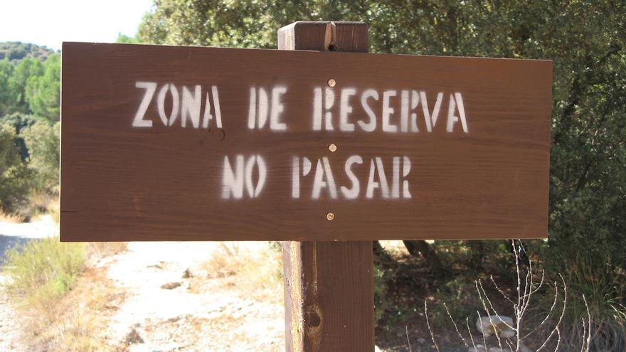 Zona de reserva en las Lagunas de Ruidera, parte de la Red Natura 2000