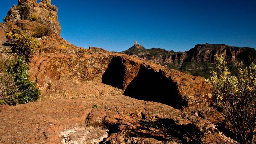 Zona ceremonial del llamado Almogarén del Bentayga, que se interpretado como un marcador equinoccial. VIAJAR AHORA