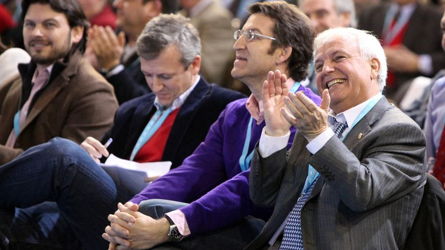 Baltar, en un acto del PP de Ourense con Feijóo, Rueda y Rodríguez Miranda