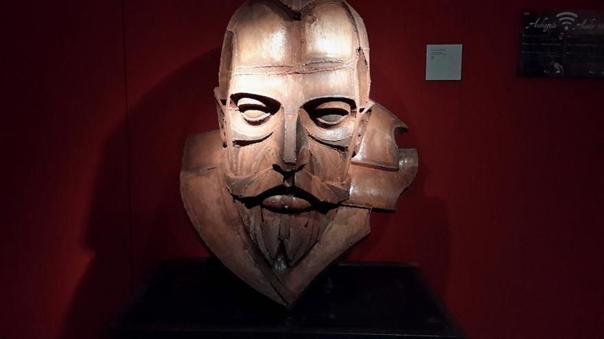 Busto de Cervantes en el Museo del Ejército en Toledo