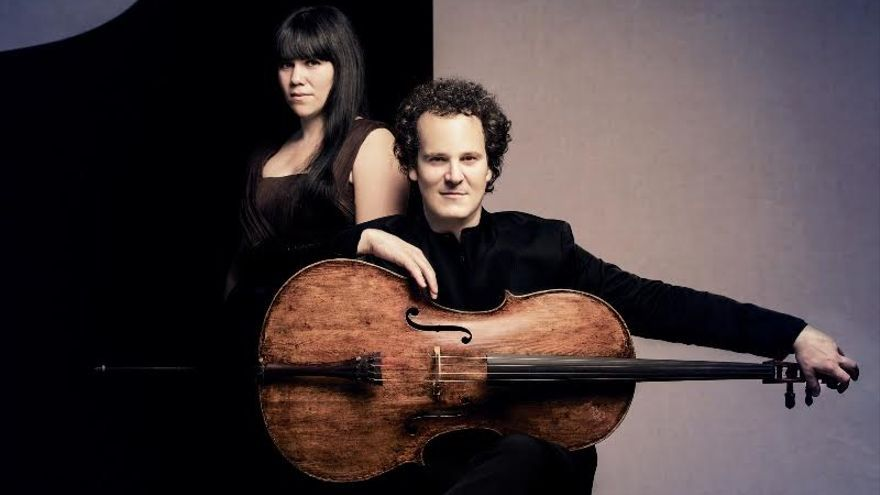 La pianista Marta Moll y el violonchelista Damián Martínez Marco.