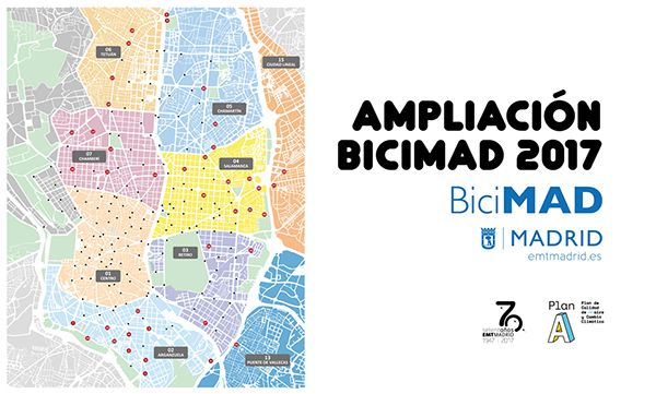 Cartel Ampliación BiciMad 2017