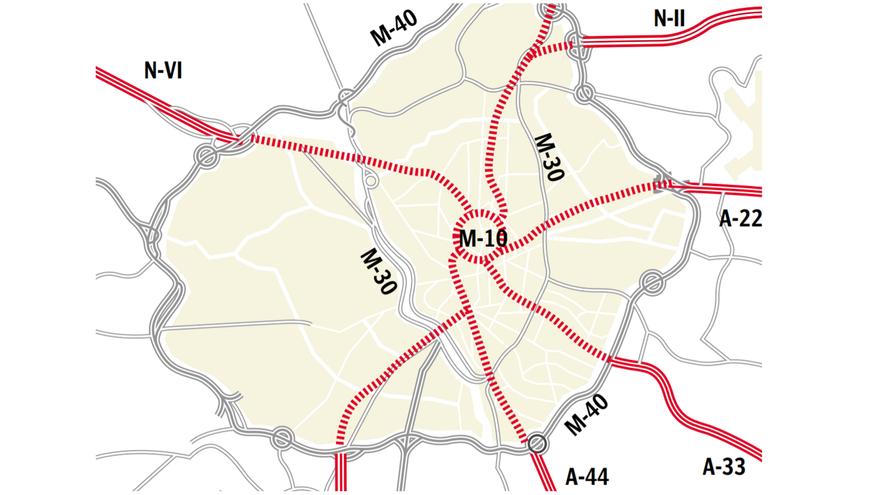 Recreación de las futuras autopistas subterráneas de Madrid, basadas en la idea de Álvarez del Manzano