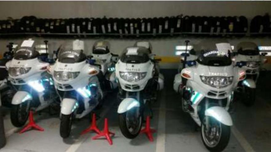 Motos BMW R850RT que se encuentran averiadas en Las Palmas de Gran Canaria.