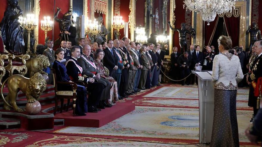 María Dolores de Cospedal, durante su discurso con motivo de la Pascua Militar