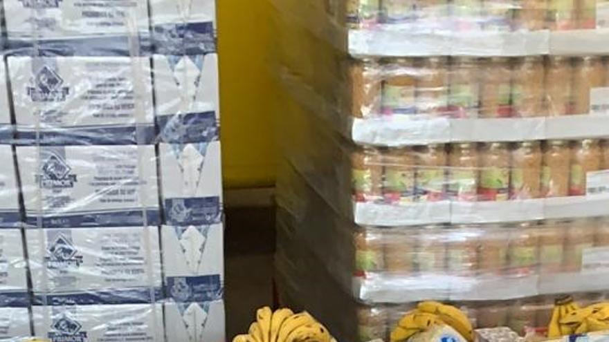 Imagen del banco de alimentos municipal de Guía de Isora.