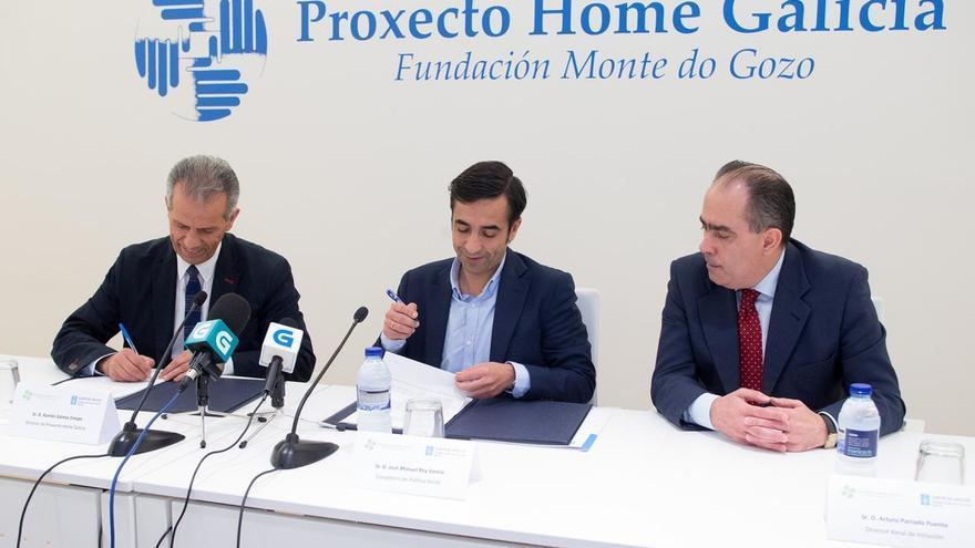 Firma de un acuerdo de colaboración entre Proxecto Home y la Xunta
