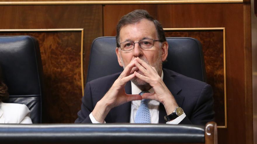 Mariano Rajoy, presidente del Gobierno en funciones en el Congreso de los Diputados.