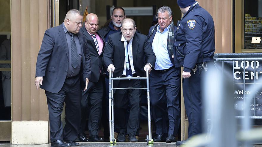 Weinstein, en su llegada a la corte suprema de Nueva York