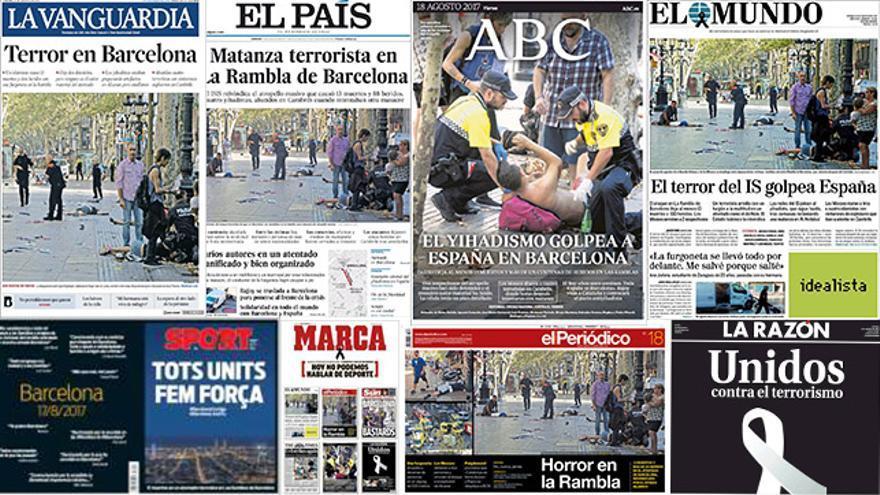 Principales portadas del periódicos nacionales
