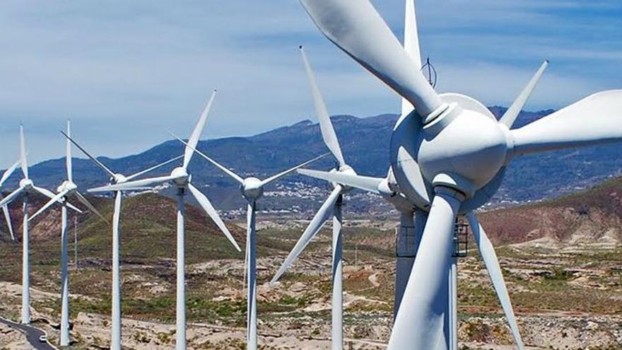 Un parque eólico en Canarias.
