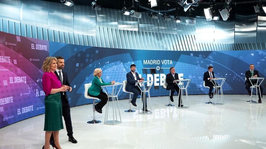 Imagen de archivo del debate al Ayuntamiento de 2019, con Rey y Ariztimuño