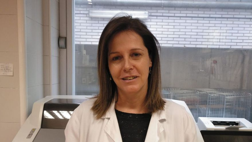 Carmen Cámara, en el Hospital La Paz.