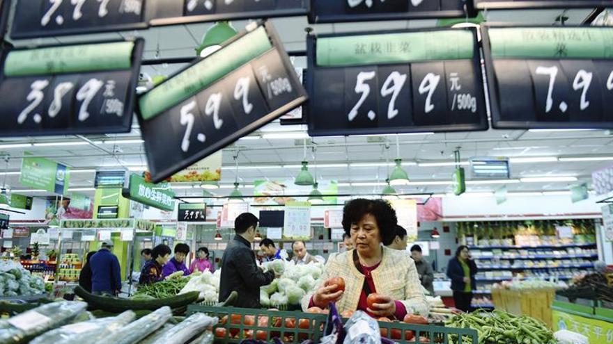 El IPC de China sube un 1,9 por ciento en junio, una décima menos que en mayo