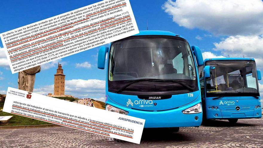 Autobuses de Arriva y sentencias del TSJG