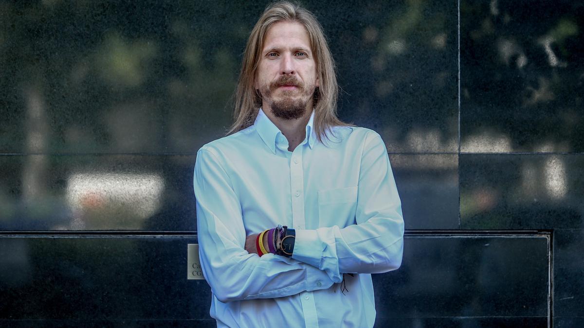 El coordinador general de Podemos en Castilla y León, Pablo Fernández