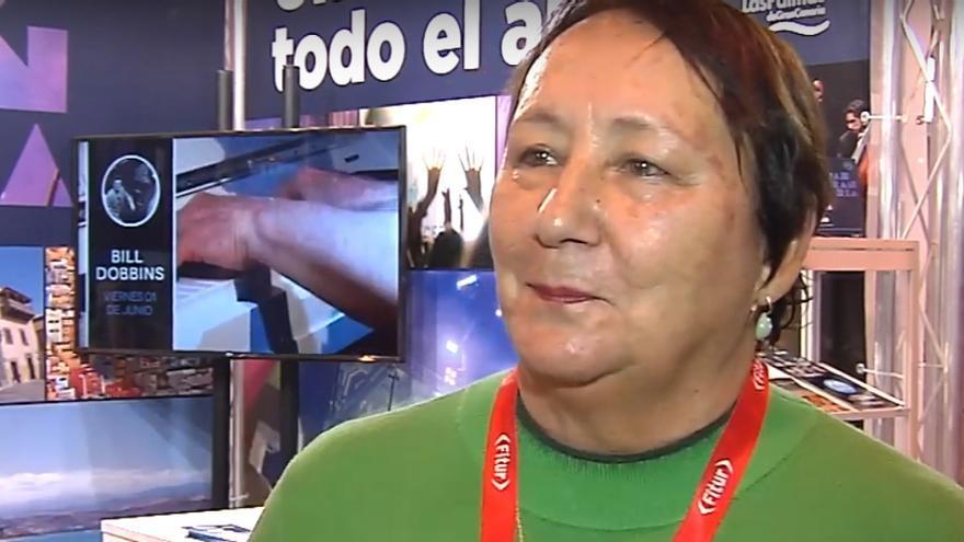 Dania Dévora, directora de Womad España, durante su participación en Fitur 2019.