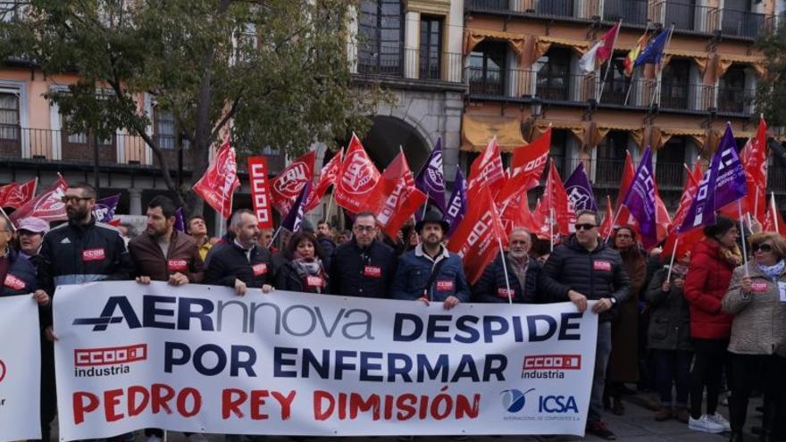 Concentración sindical en la Plaza de Zocodover FOTO: CCOO