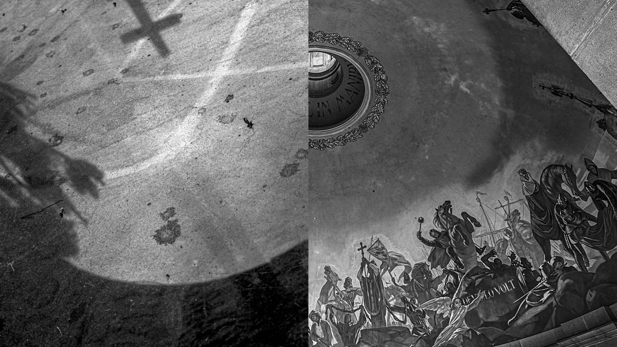 Montaje paralelo de dos de las instantáneas del libro de fotografía 'Do You Remember Franco'