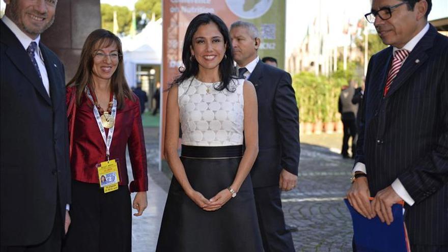 La primera dama de Perú pide el reconocimiento a las tradiciones alimentarias del país