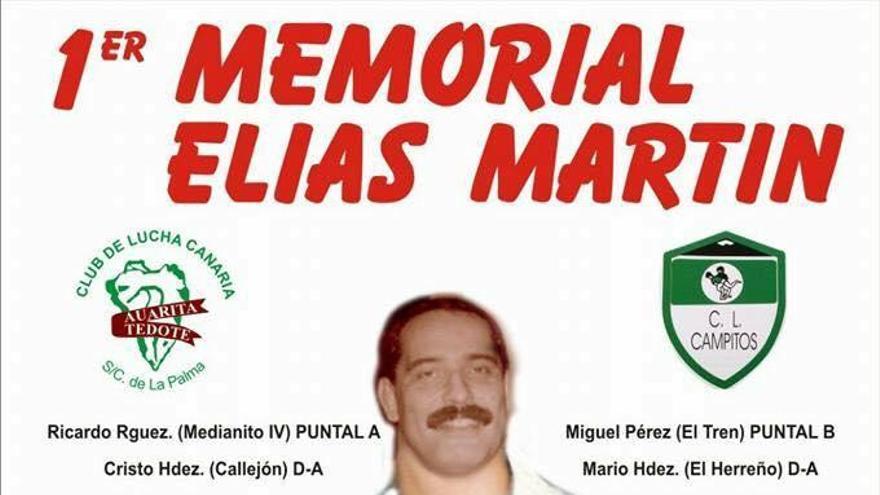 Cartel del primer Memorial Elías Martín de lucha canaria