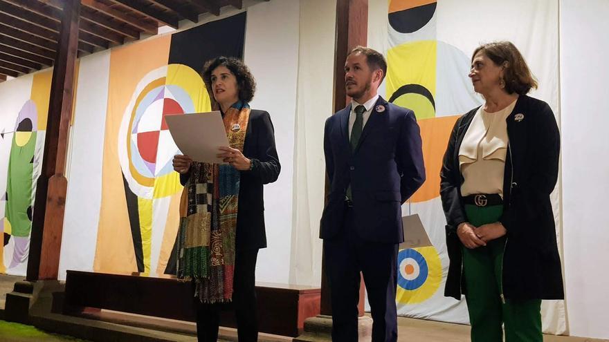 Inauguración de la  exposición la 'César Manrique. El artista que miró al infinito'.