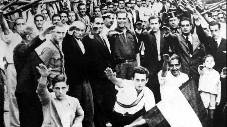 Fascistas en Hermigua durante la Guerra Civil