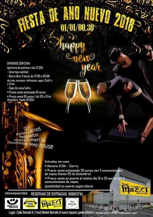 Cartel fiesta Nochevieja 2017 en Isla Barceló
