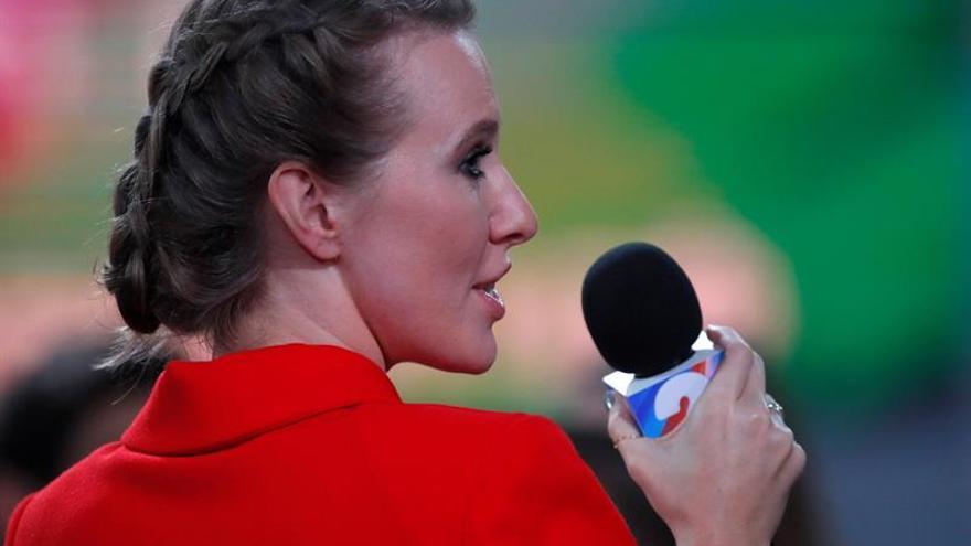 La periodista Ksenia Sobchak, inscrita como candidata a la Presidencia rusa