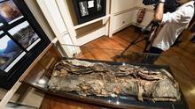 La conocida durante mucho tiempo como Artemi Semidán será la primera momia de la que se creará un modelo tridimensionales de la colección del Museo Canario. EFE/Ángel Medina G.