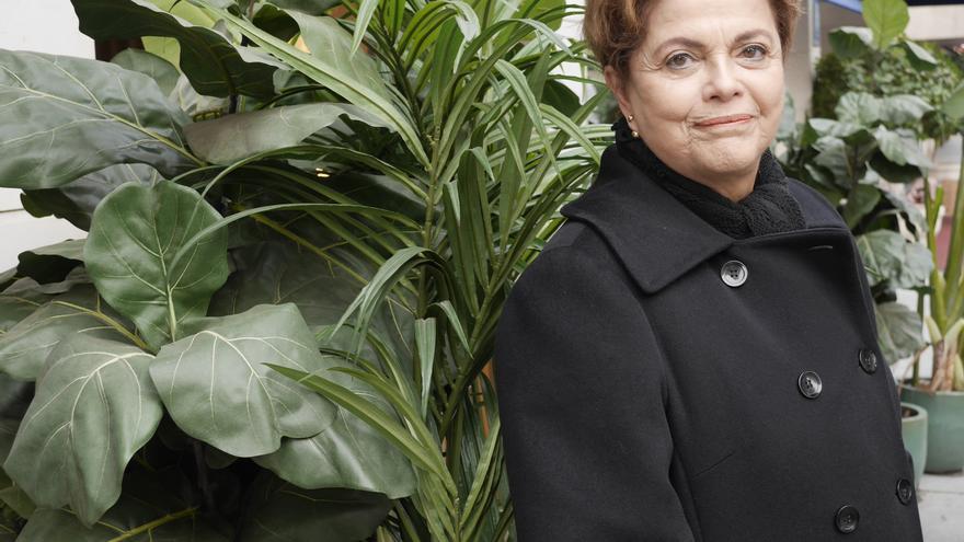 La ex presidenta de Brasil, Dilma Rousseff, ayer en Sevilla.