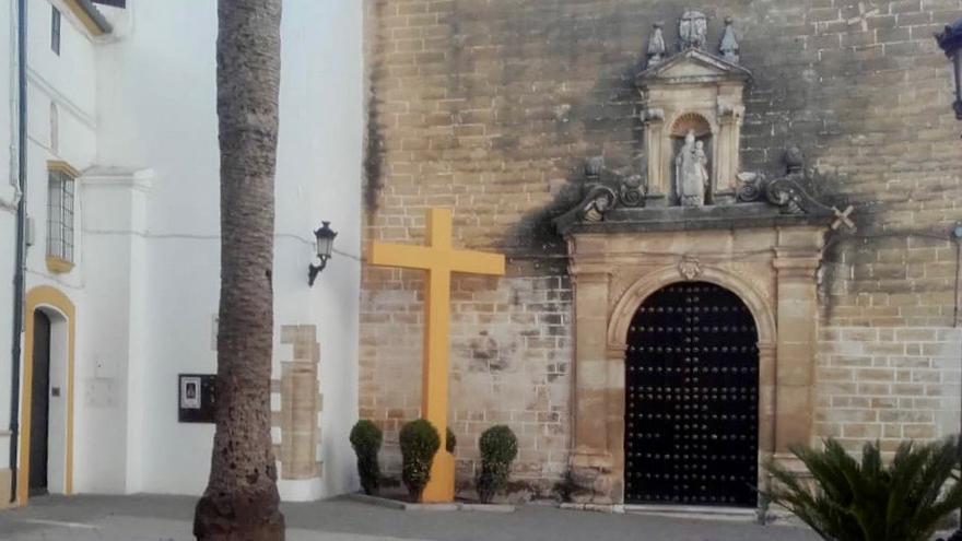 Imagen de la cruz franquista de Aguilar de la Frontera (Córdoba)