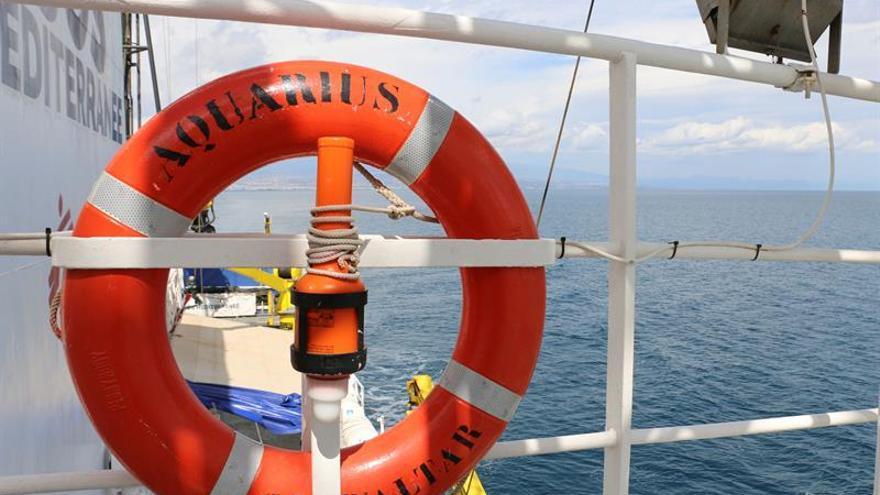 """El barco """"Aquarius"""", fletado por Médicos Sin Fronteras (MSF) y SOS Mediterranee para rescatar migrantes en el Mediterráneo."""