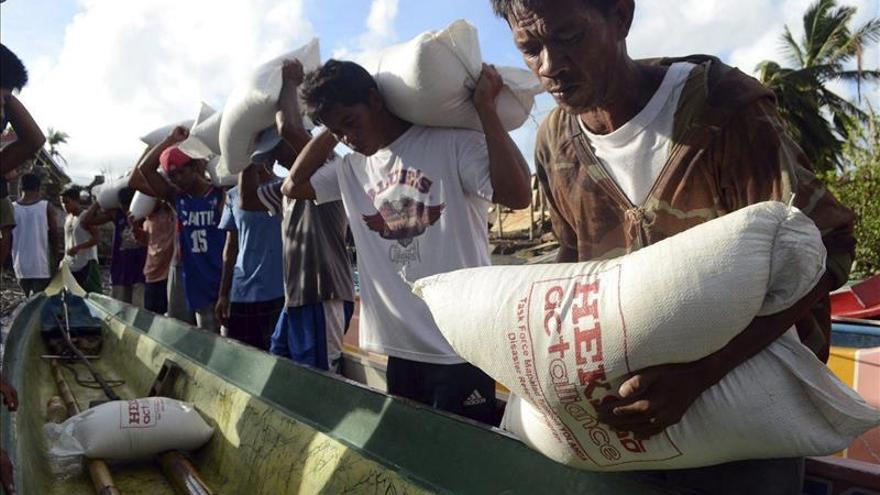 La ONU reclama urgentemente más fondos para los afectados del tifón en Filipinas