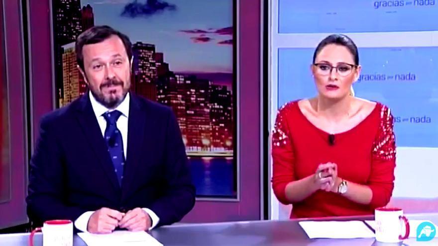 José Antonio Fuster y Rocío Manzaneque en 'Gracias por nada' de Intereconomía