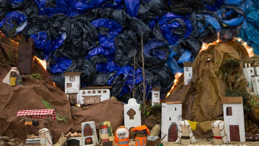 Belen reciclado en la Viñuela | MADERO CUBERO