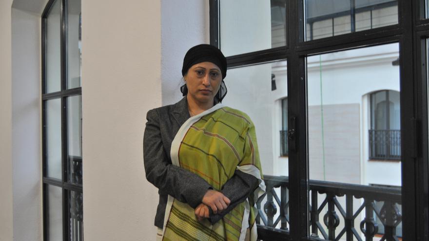 La abogada e investigadora Razia Sultana durante la entrevista en La Casa Encendida (Madrid)