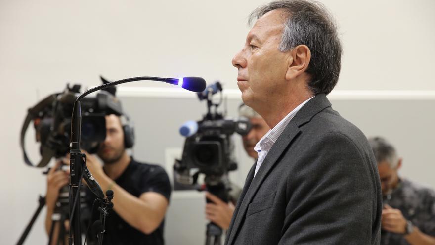 Juan Manuel Benítez del Rosario,  en el juicio celebrado en julio. (ALEJANDRO RAMOS)