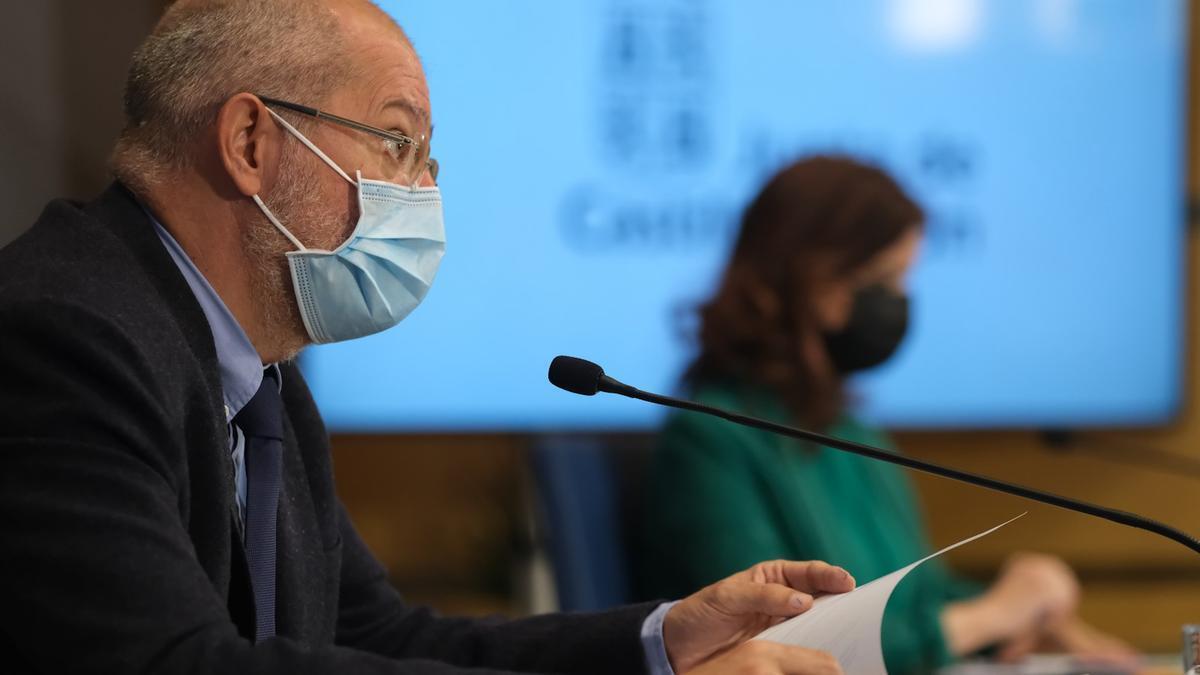 El vicepresidente de la Junta de Castilla y León, en rueda de prensa.